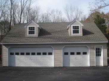 Amish woodworks garage builder garages sheds garages for 2 1 2 car garage cost